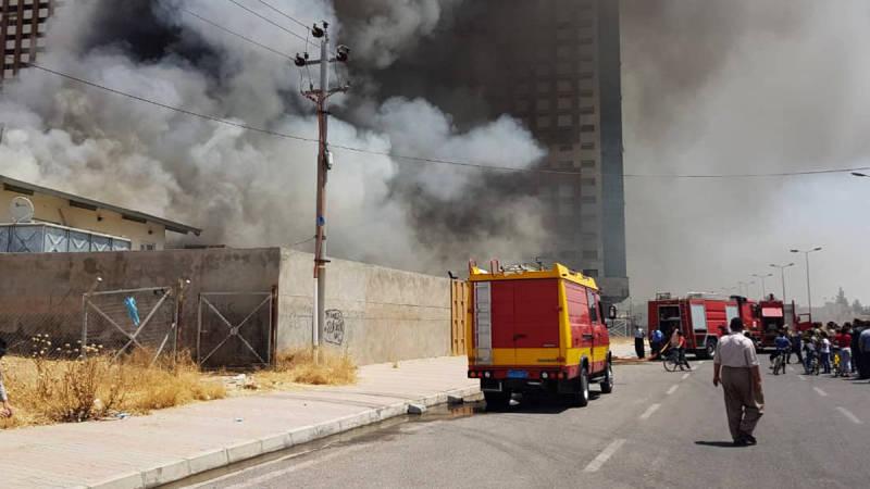 اندلاع حريق في الطابق الرابع بمستشفى أهلي في دهوك