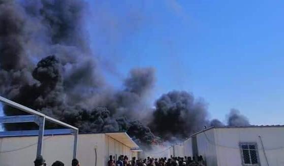 اندلاع حريق في الاقسام الداخلية بجامعة تكريت