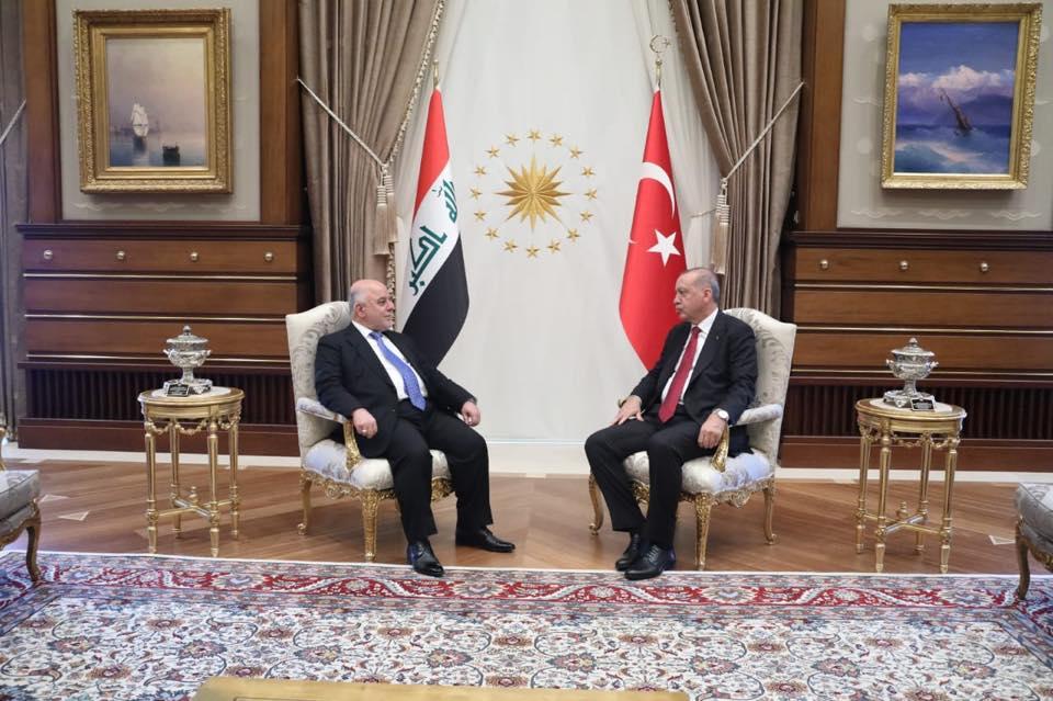 اردوغان للعبادي: العراق سيحصل على حصته المائية كاملة