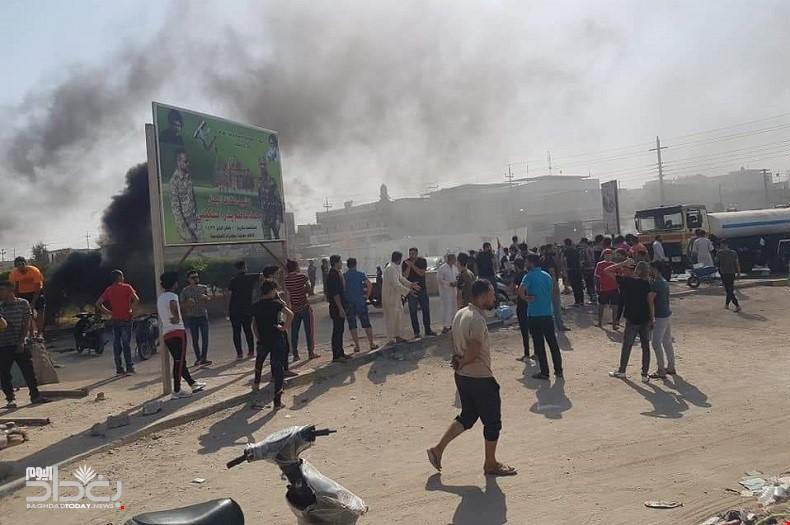 اصابات باشتباكات بين المتظاهرين والقوات الامنية في البصرة