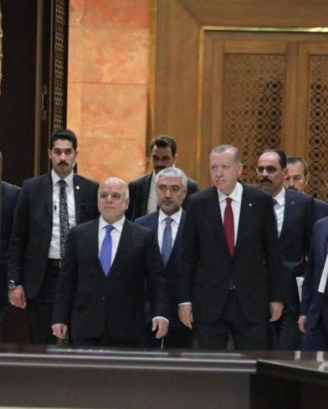 اردوغان: بحثنا مع العبادي التنسيق بين العراق وتركيا لمكافحة التنظيمات الارهابية