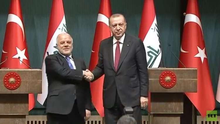 العبادي: اردوغان أكد التزام تركيا بالتزاماتها تجاه العراق في مؤتمر الكويت