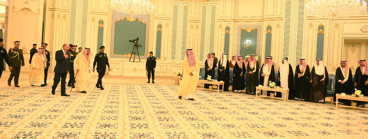 The Saudi monarch welcomed Barham Salih on his first visit to the kingdom 14181120181