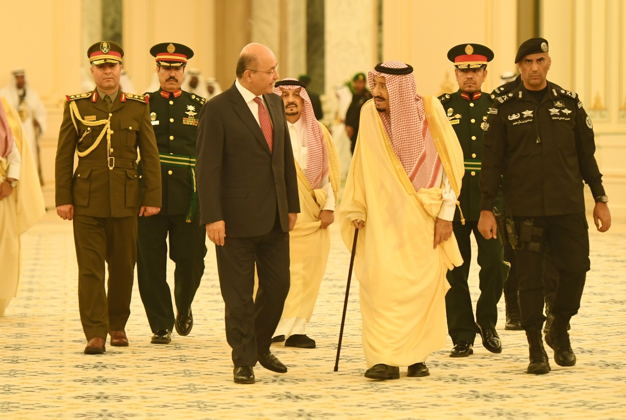 The Saudi monarch welcomed Barham Salih on his first visit to the kingdom 14181120182