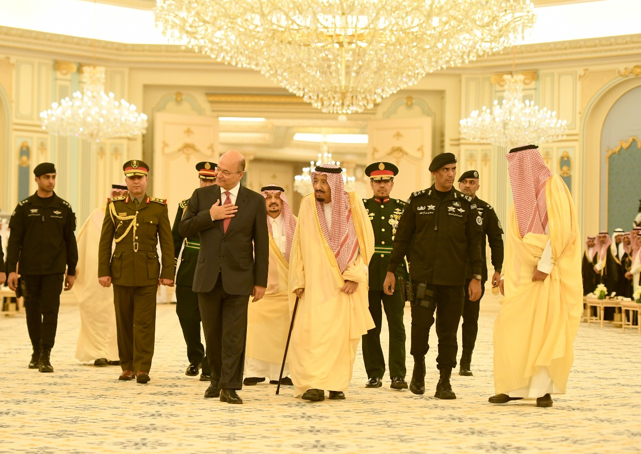 The Saudi monarch welcomed Barham Salih on his first visit to the kingdom 14181120183
