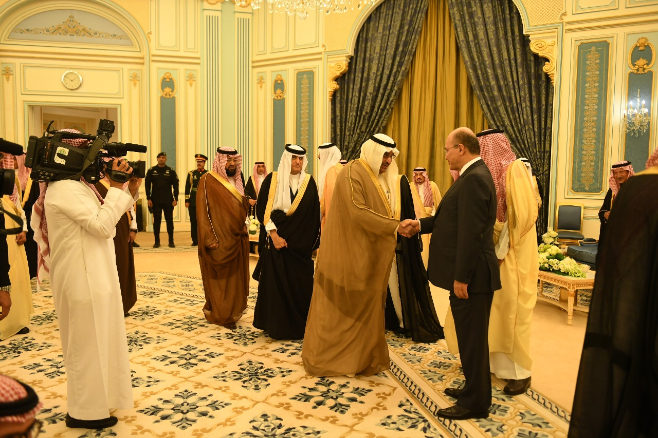 The Saudi monarch welcomed Barham Salih on his first visit to the kingdom 14181120184