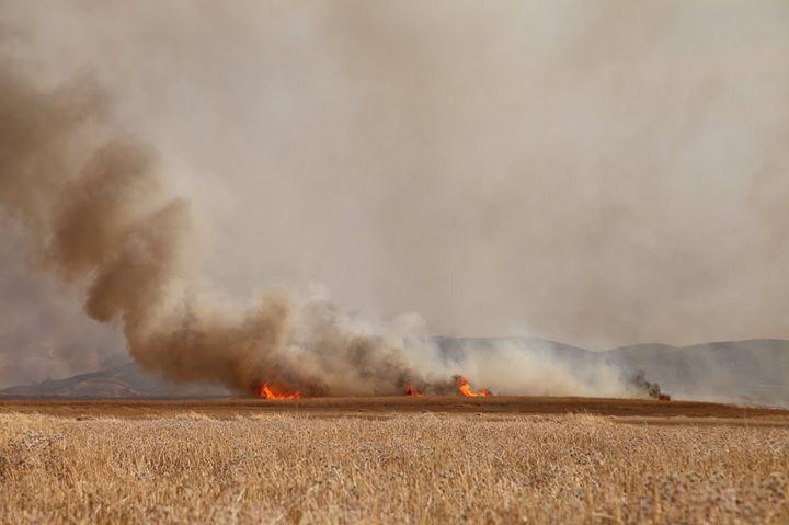 اخماد حريق كبير بخمس مناطق في ديالى