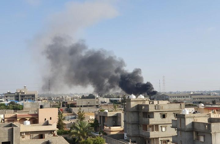 رويترز: معسكر الحشد قرب قاعدة بلد تعرض لقصف جوي