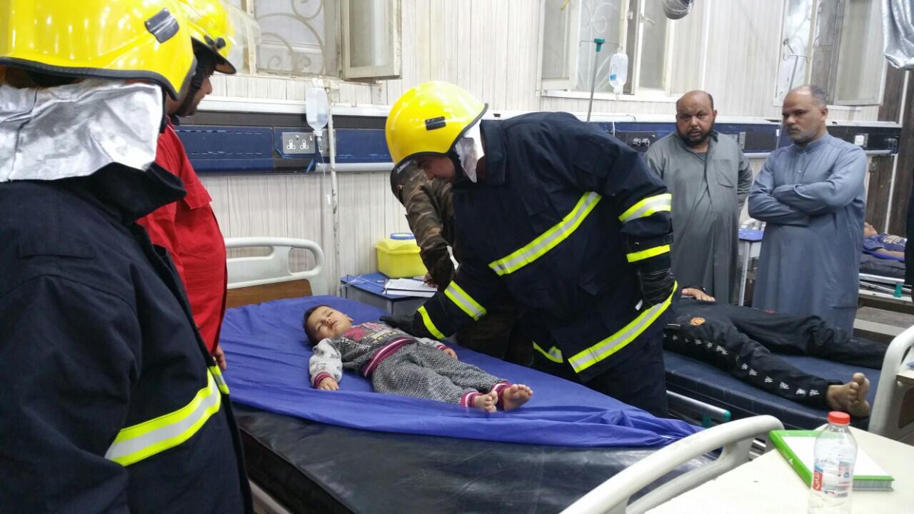 بالصور .. إنهيار سقف محل حلاقة في الناصرية يتسبب باصابة خمسة اشخاص