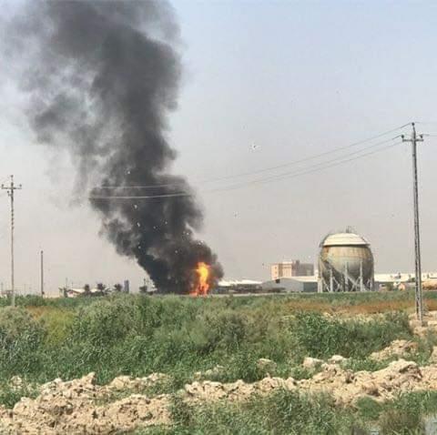 انفجار بمعمل غاز الناصرية لم تعرف طبيعته (صور)