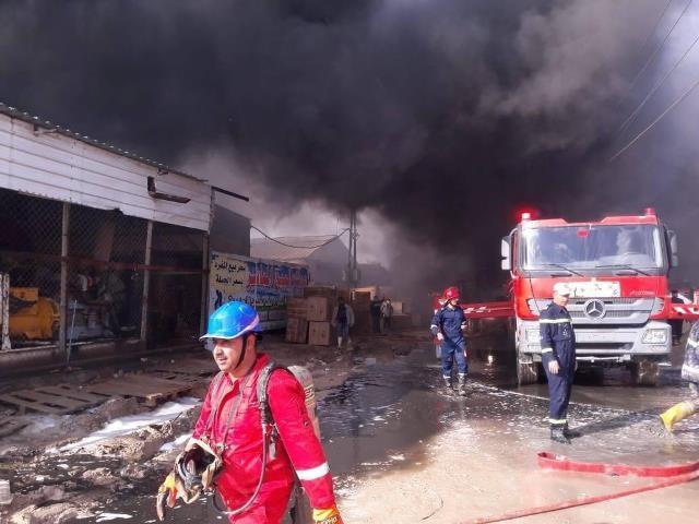 إخماد حريق عويريج