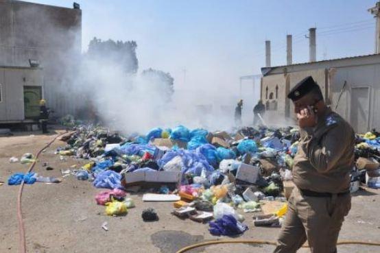 بالصور.. الدفاع المدني تسيطر على حريق في المدينة الطبية بكربلاء